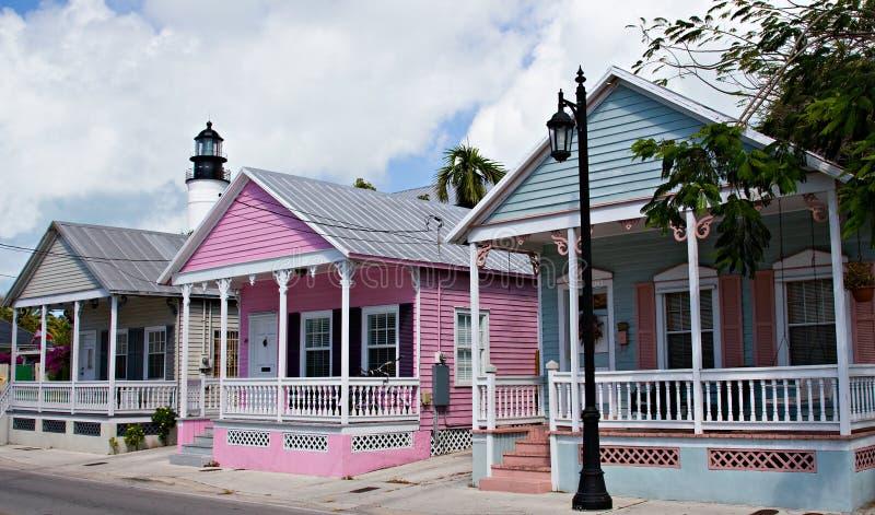 Maisons de Key West images libres de droits