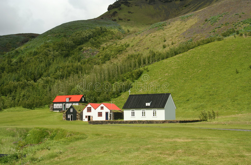 Maisons de l'Islande de tradition photos libres de droits