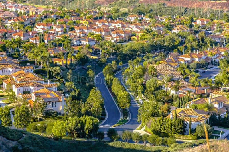 Maisons de luxe de San Clemente en Californie photographie stock