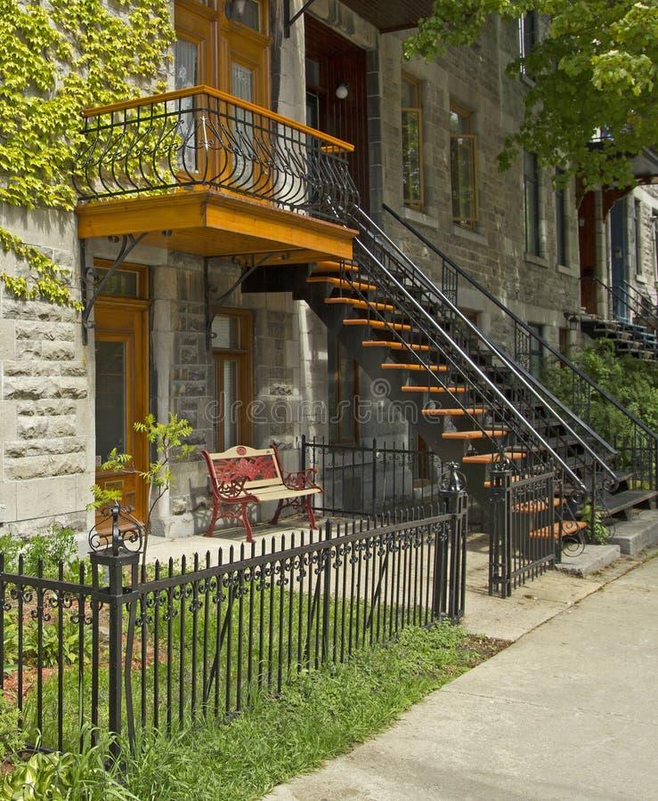 Maisons de Montréal photographie stock