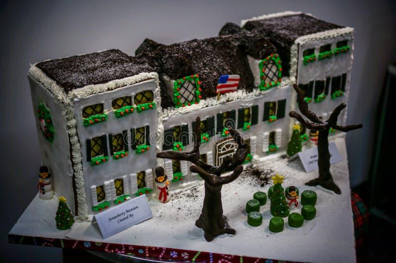 Maisons de pain d'épice de fantaisie à Philadelphie image stock