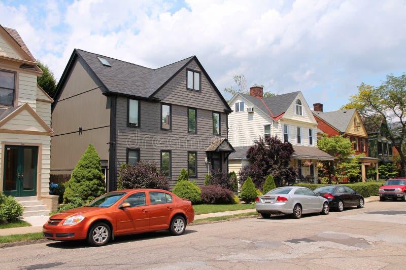 Maisons de Pittsburgh photo libre de droits