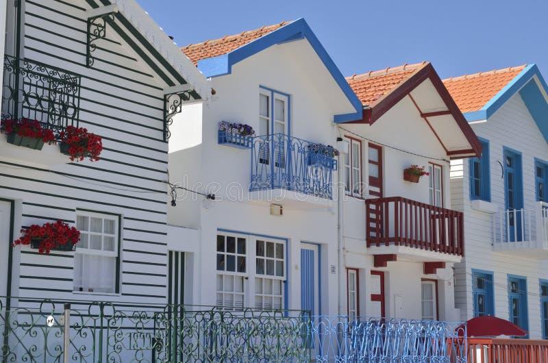 Maisons de plage blanches image stock