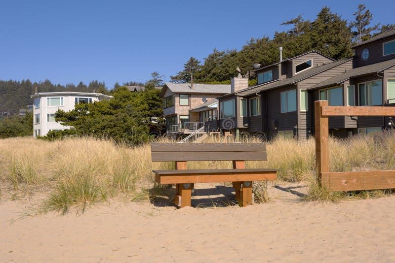 Maisons de plage en plage Orégon de Canon image libre de droits