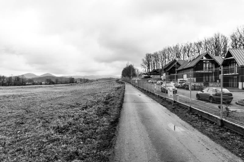 Maisons de sentier piéton et de vacances photo libre de droits