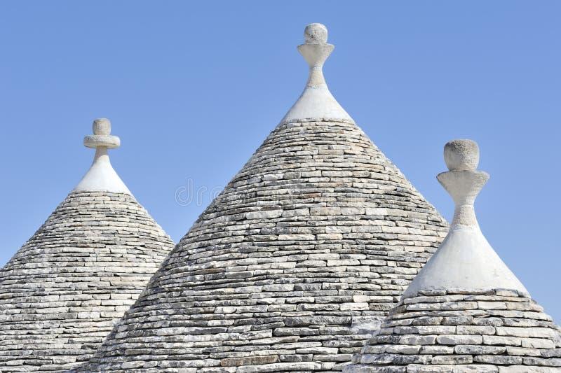 Maisons de Trulli chez Alberobello, Puglia, Italie image stock