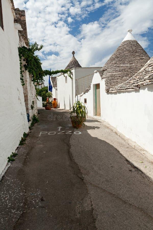 Maisons de Trulli dans Alberobello, Apulia, Italie photos libres de droits