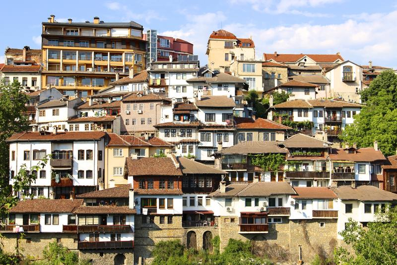 Maisons de Veliko Tarnovo images stock