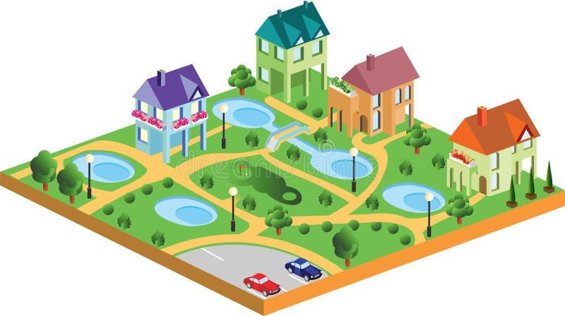 Maisons de village illustration stock