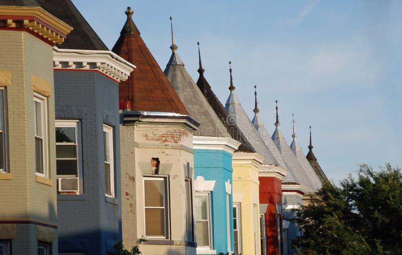 Maisons de ville à la maison de luxe de Washington DC photo stock