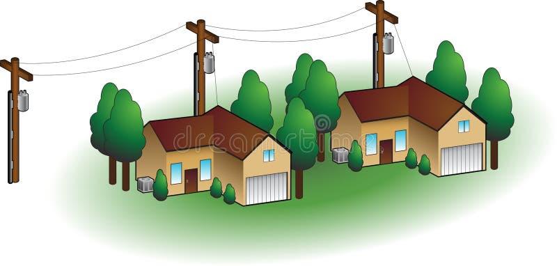 Maisons de voisinage illustration de vecteur
