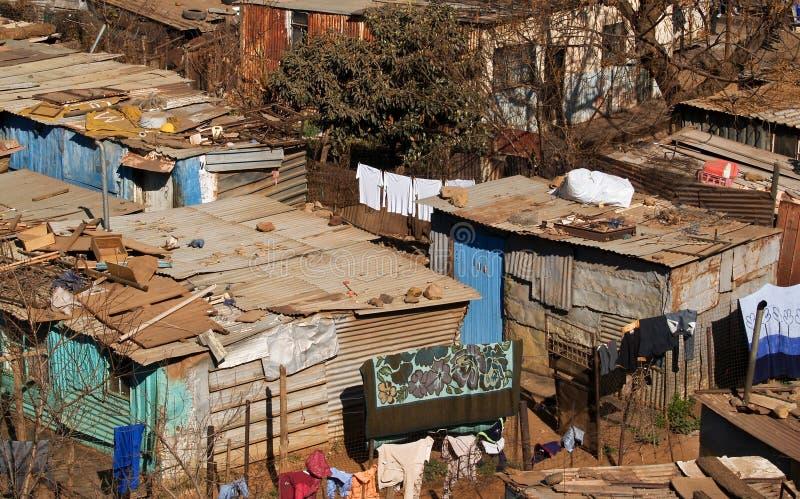 Maisons des pauvres. photographie stock libre de droits