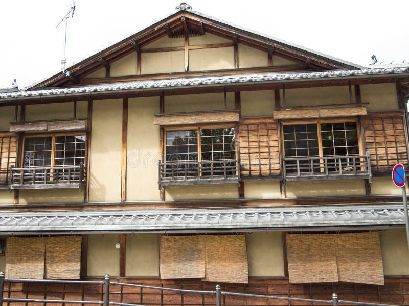 Maisons en bois dans vieux Gion photographie stock libre de droits