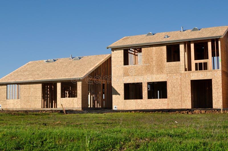 Maisons en construction photographie stock libre de droits