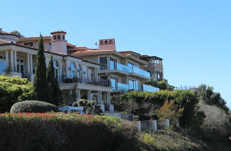 Maisons en Palos Verdes Estates, la Californie photo stock
