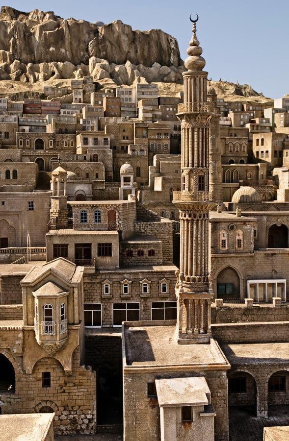 Maisons en pierre de Mardin image libre de droits