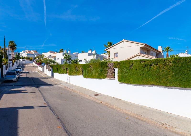 Maisons espagnoles modernes en EL Mas Mel photo libre de droits
