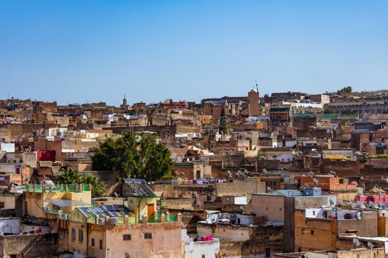 Maisons et bâtiments en Médina de Fez Maroc photo libre de droits