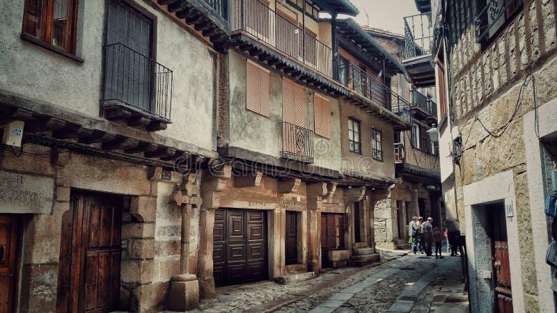 Maisons et rues de l'Espagne Salamanque mogarraz image libre de droits