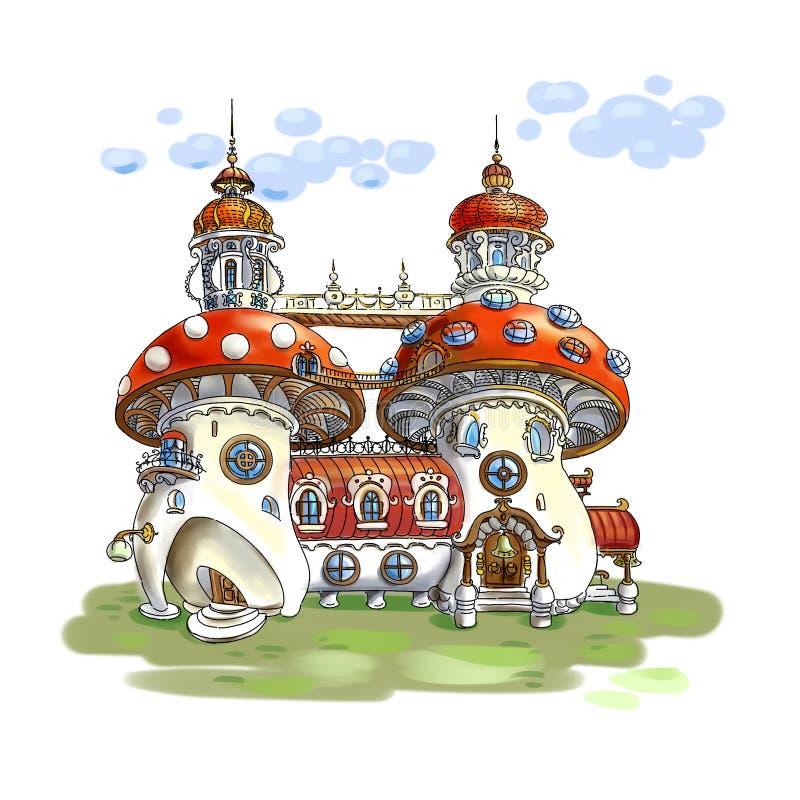 Maisons féeriques illustration de vecteur