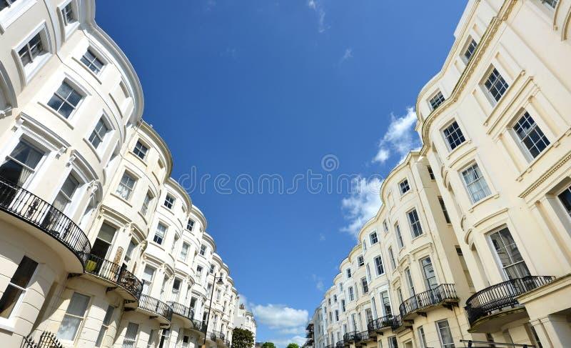Maisons géorgiennes, Brighton photo stock