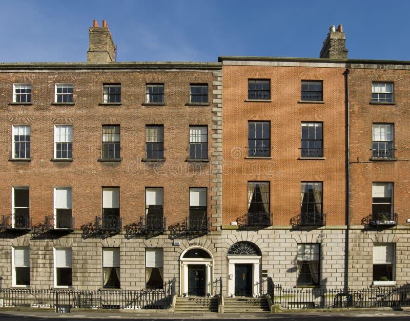 Maisons géorgiennes de Dublin image libre de droits