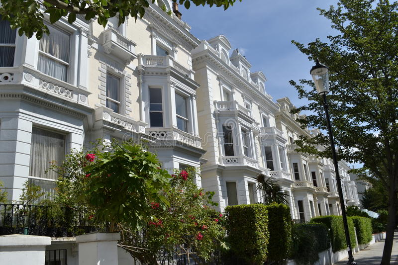 Maisons grandes Notting Hill Londres photo stock