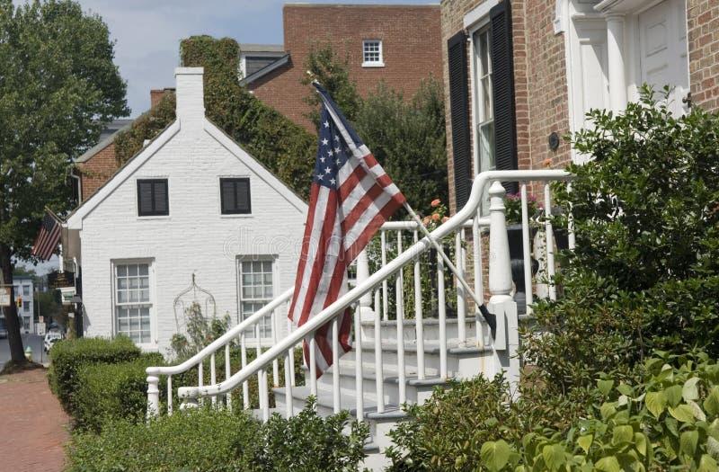 Maisons historiques dans Frederick, le Maryland. image stock