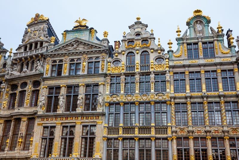 Maisons historiques de guilde de Grand Place à Bruxelles photographie stock