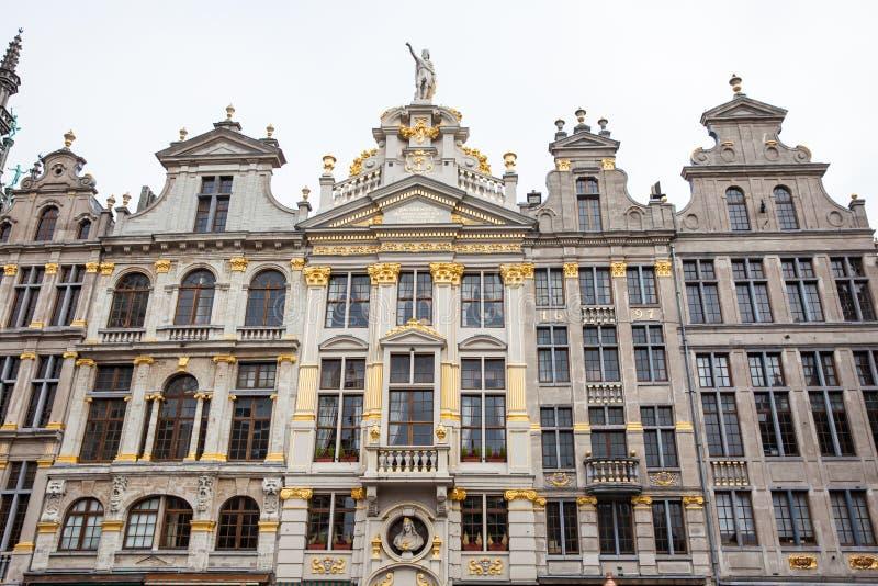 Maisons historiques de guilde de Grand Place à Bruxelles photo stock