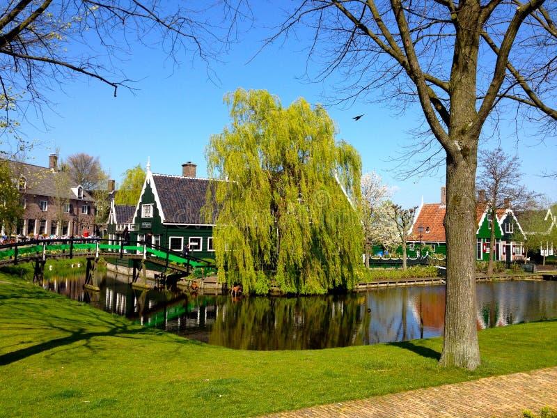 maisons hollandaises traditionnelles photo stock