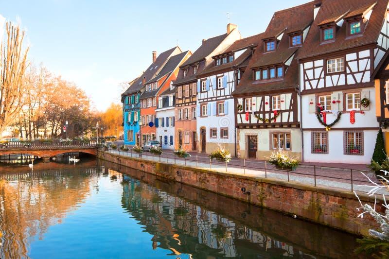 Maisons médiévales à Colmar, France photos libres de droits