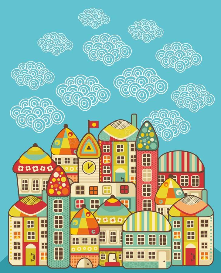 Maisons mignonnes. illustration libre de droits