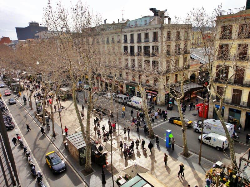 Download Maisons Pittoresques à La La Rambla, Barcelone Image stock éditorial - Image du barcelone, façade: 56487384