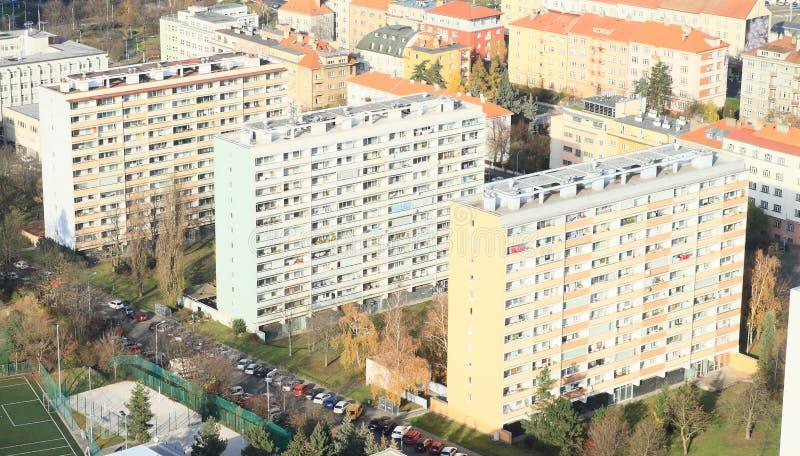 Maisons préfabriquées à Prague photo stock