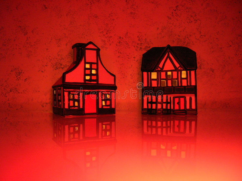 Maisons rouges photos libres de droits