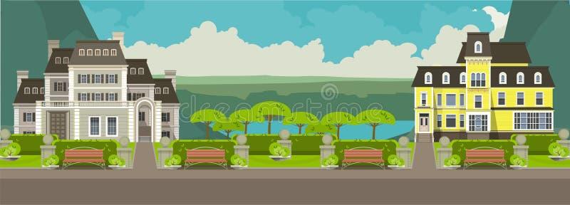 Maisons rurales illustration stock