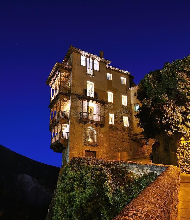 Maisons s'arrêtantes, Cuenca, Espagne. photos stock
