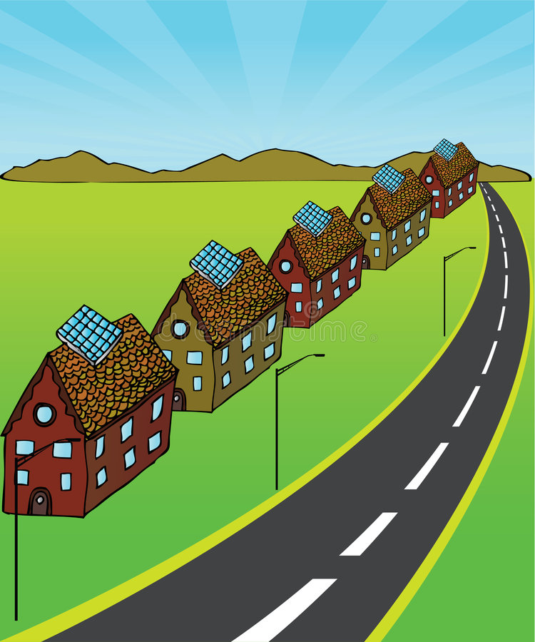 Maisons solaires illustration stock