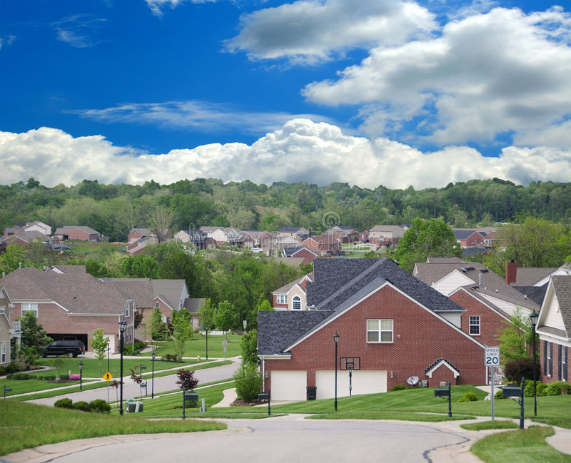 Maisons suburbaines de brique photo stock