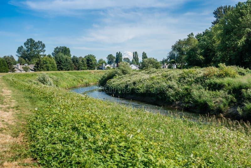 Maisons sur la rivière Green image stock