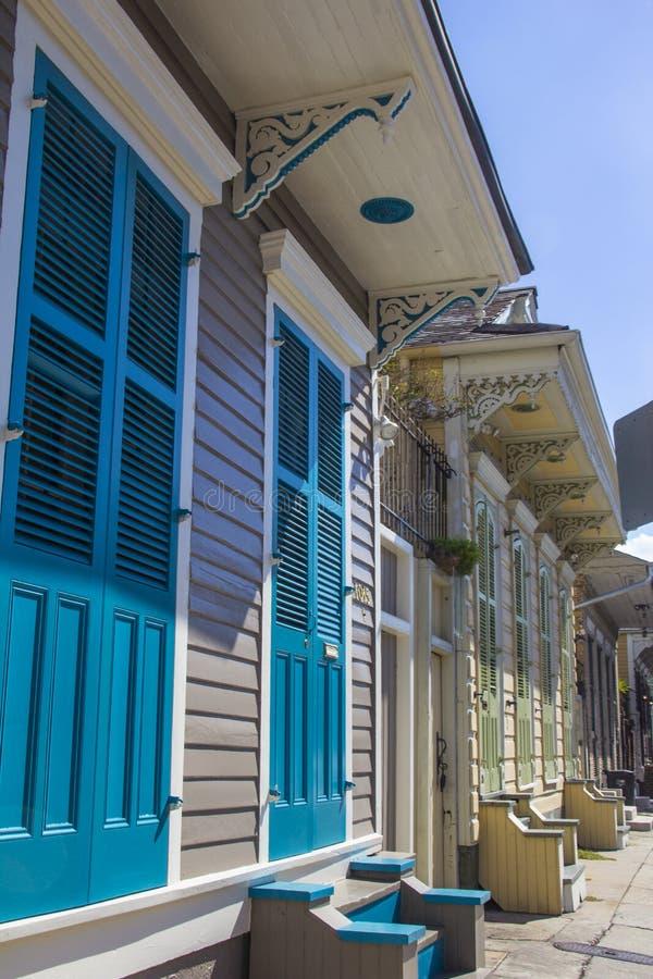 Maisons traditionnelles à la Nouvelle-Orléans image stock