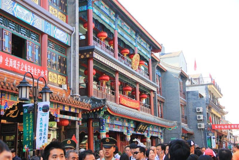 Maisons traditionnelles de Pékin vieilles photographie stock