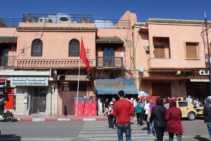 Maisons traditionnelles typiques à Marrakech photos libres de droits
