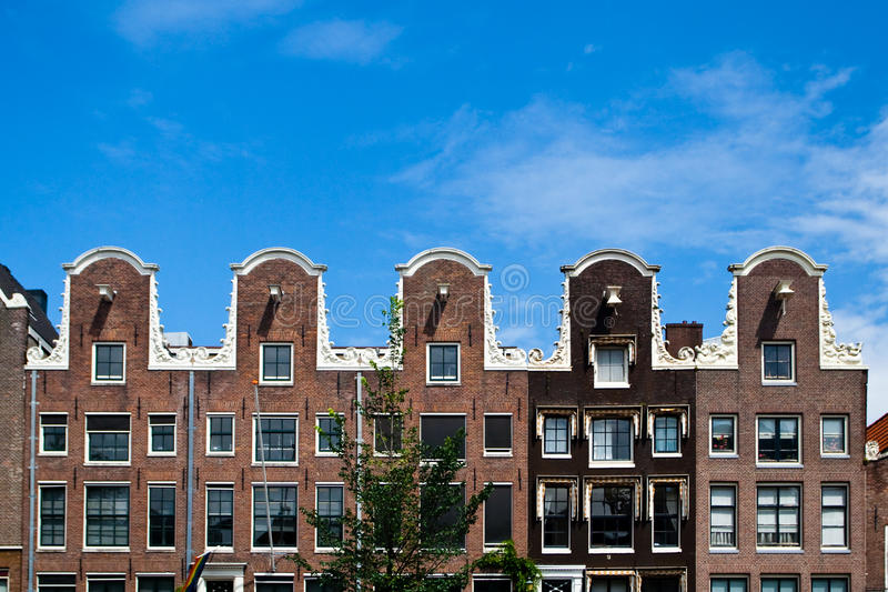 Maisons types d'Amsterdam photographie stock