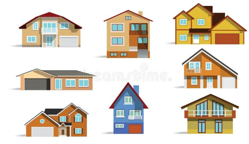 Download Maisons urbaines illustration de vecteur. Image du plat - 31054436