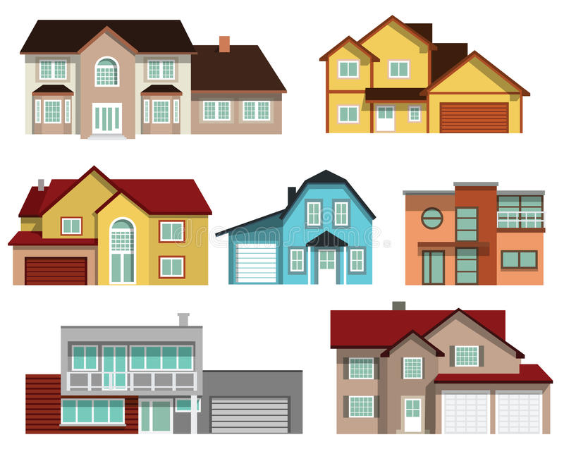 Maisons urbaines illustration stock