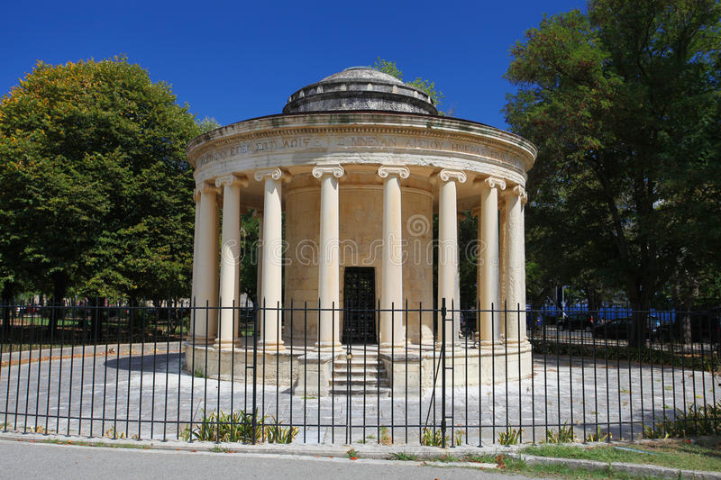 The Maitland rotunda in Corfu, Greece royalty free stock images
