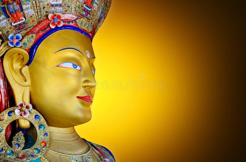 Maitreya Boedha stock afbeeldingen