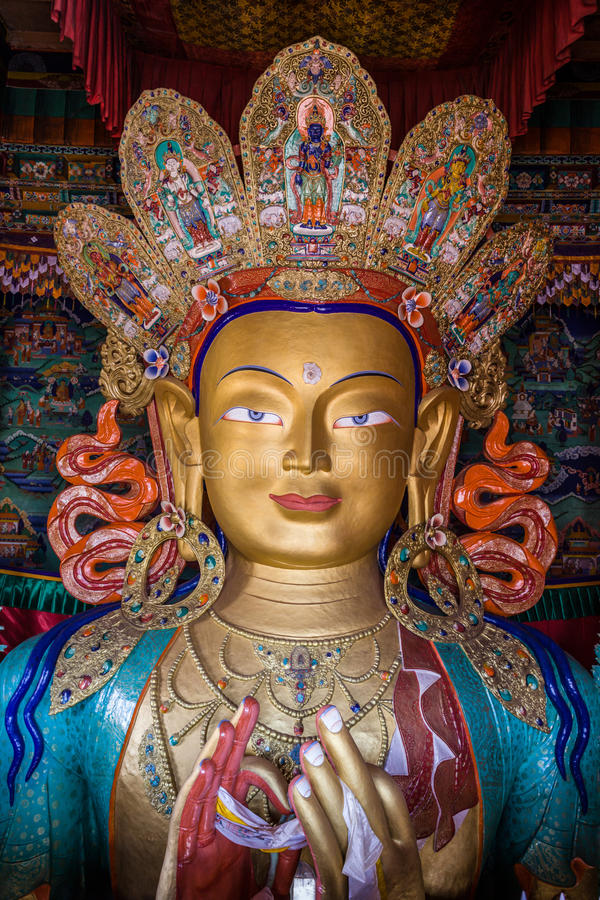 Maitreya Boedha royalty-vrije stock afbeeldingen
